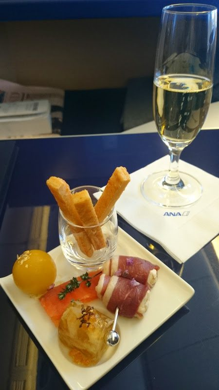 ANA first class canapes