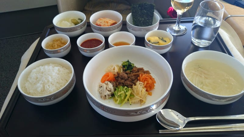 asiana bibimbap - REVIEW - Asiana Airlines : First Class - Seoul Incheon to Tokyo Narita (B747)